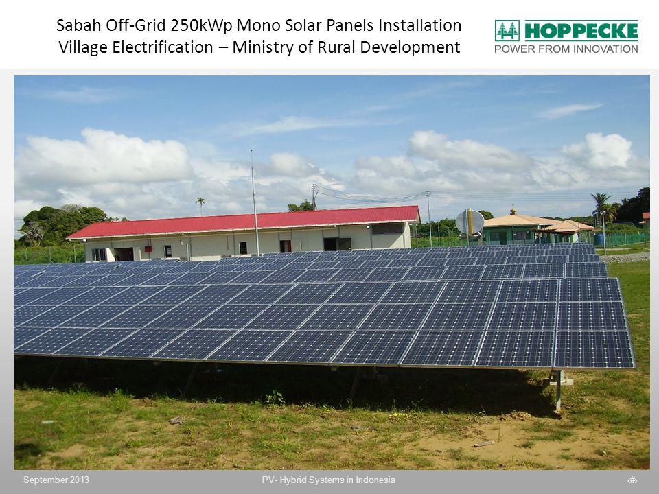 Sabah Off-Grid 250kWp Mono Solar Panels Installation Village Electrification – Ministry of Rural Development