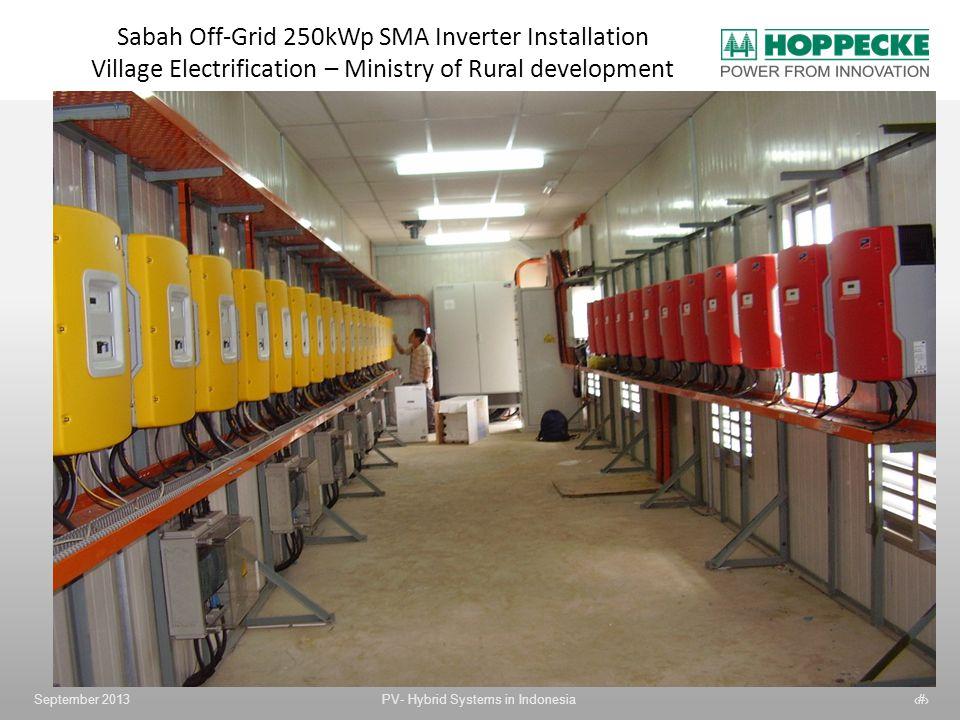Sabah Off-Grid 250kWp SMA Inverter Installation Village Electrification – Ministry of Rural development