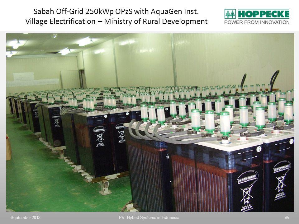Sabah Off-Grid 250kWp OPzS with AquaGen Inst