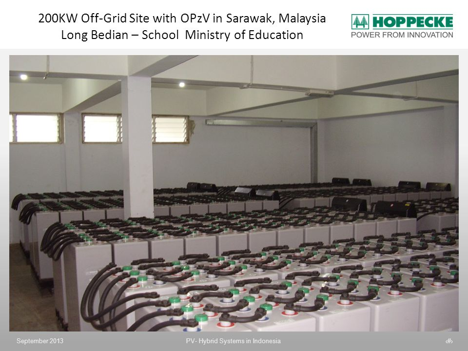 200KW Off-Grid Site with OPzV in Sarawak, Malaysia Long Bedian – School Ministry of Education