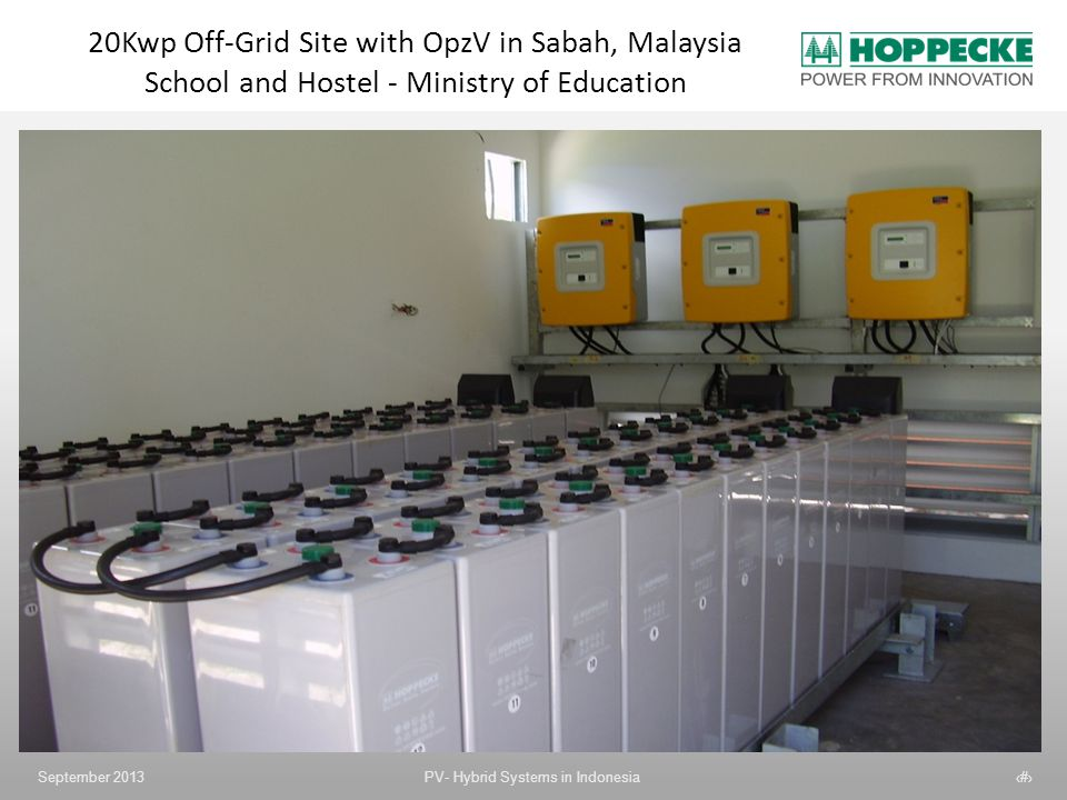 20Kwp Off-Grid Site with OpzV in Sabah, Malaysia School and Hostel - Ministry of Education