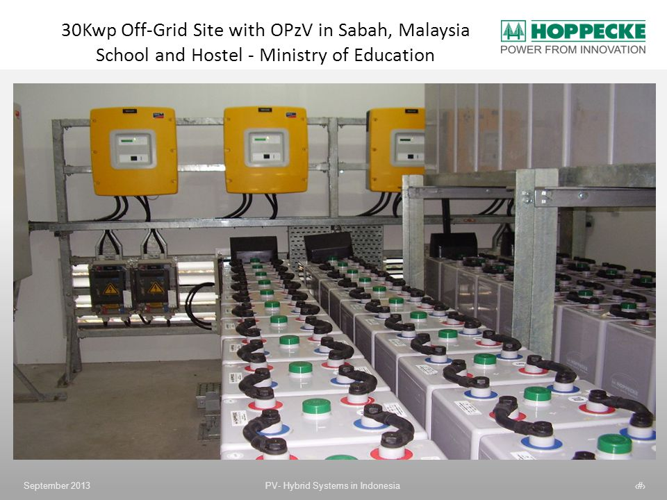 30Kwp Off-Grid Site with OPzV in Sabah, Malaysia School and Hostel - Ministry of Education