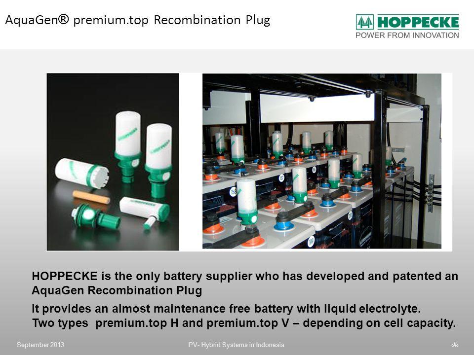 AquaGen® premium.top Recombination Plug