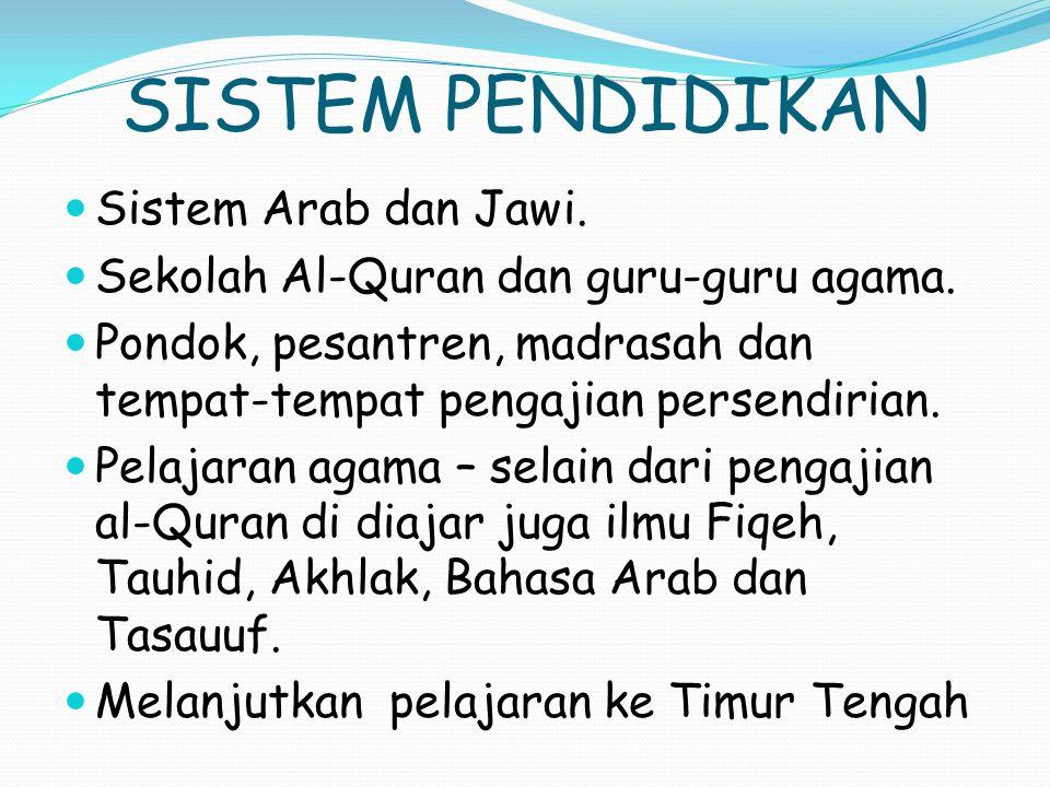 SISTEM PENDIDIKAN Sistem Arab dan Jawi.