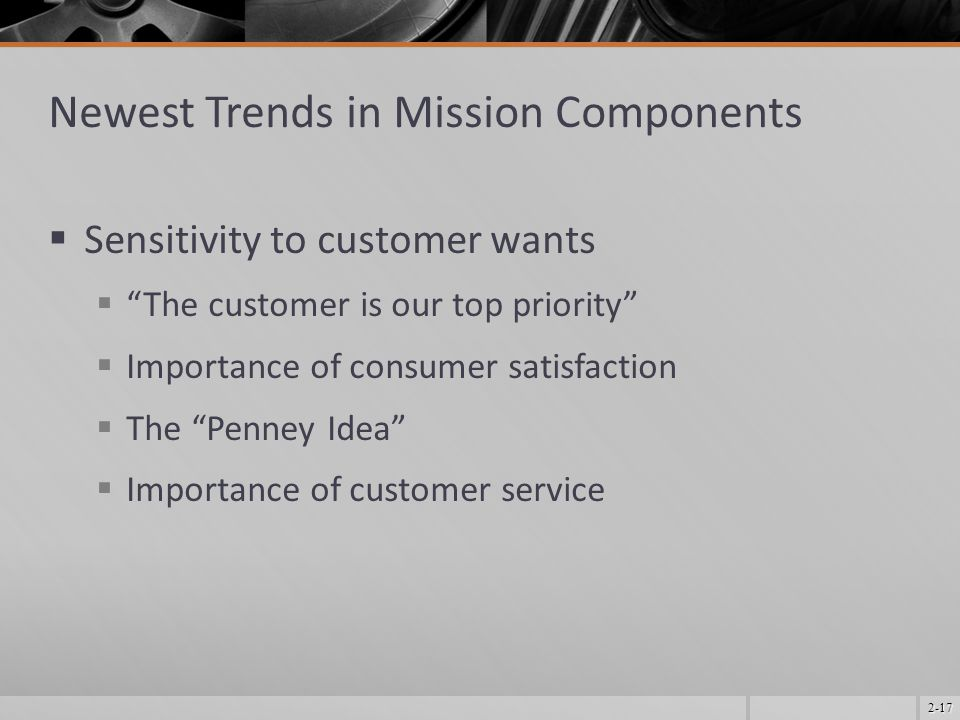 Newest Trends in Mission Components