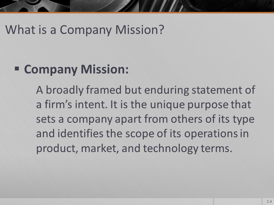 What is a Company Mission