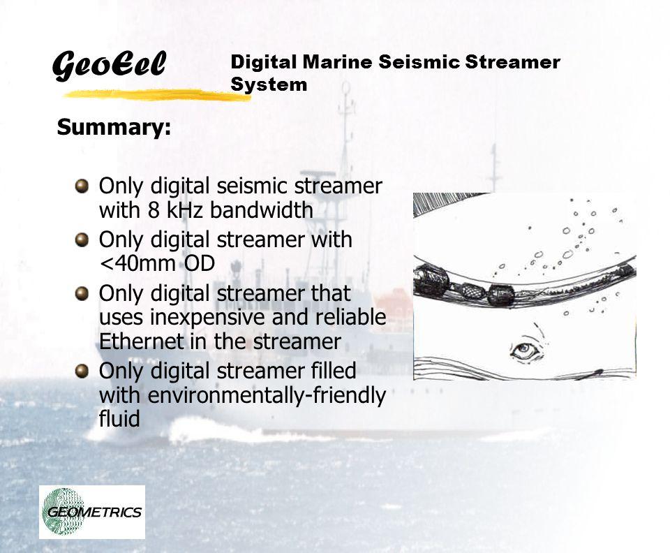 Only digital seismic streamer with 8 kHz bandwidth