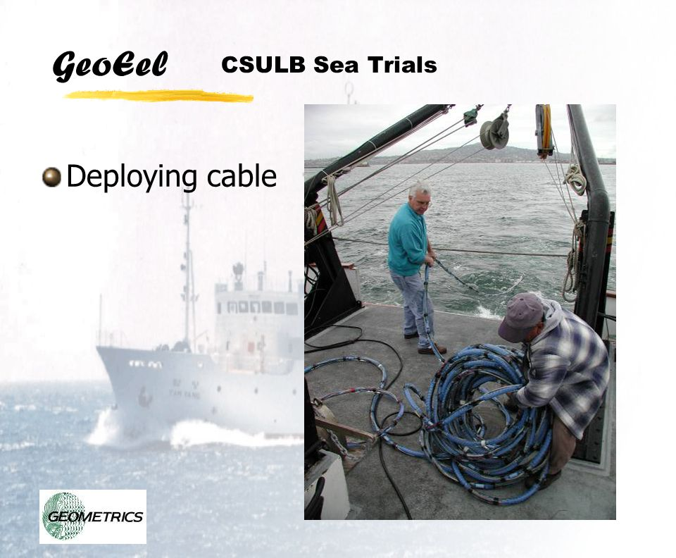 CSULB Sea Trials Deploying cable