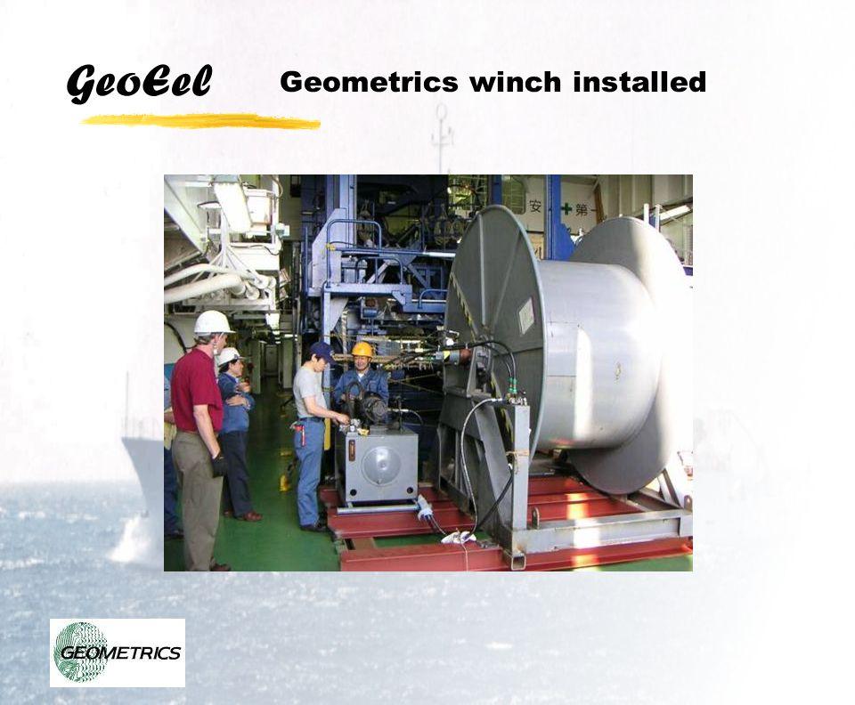 Geometrics winch installed