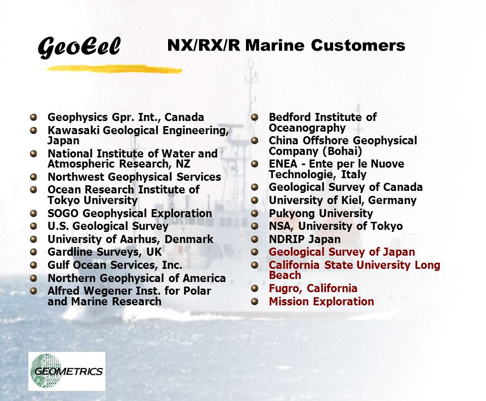 NX/RX/R Marine Customers