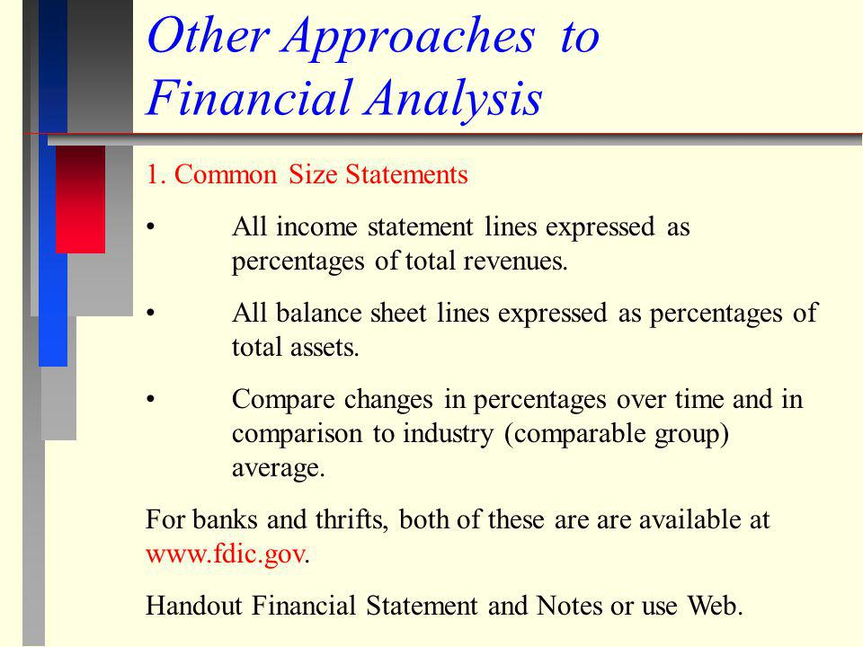 Other Approaches to Financial Analysis