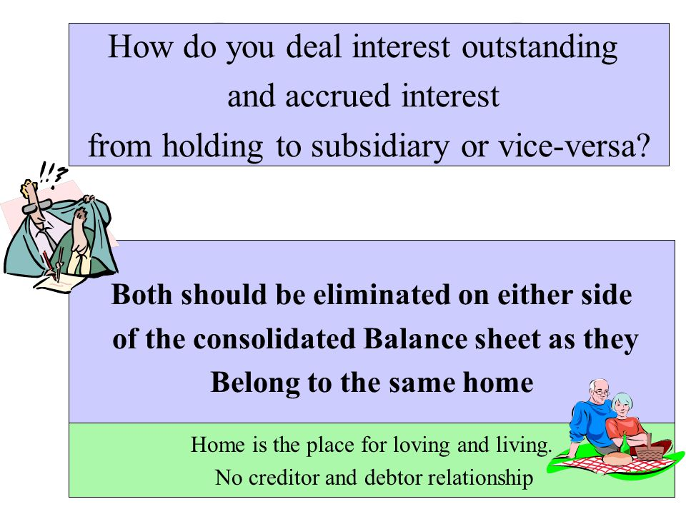 How do you deal interest outstanding and accrued interest