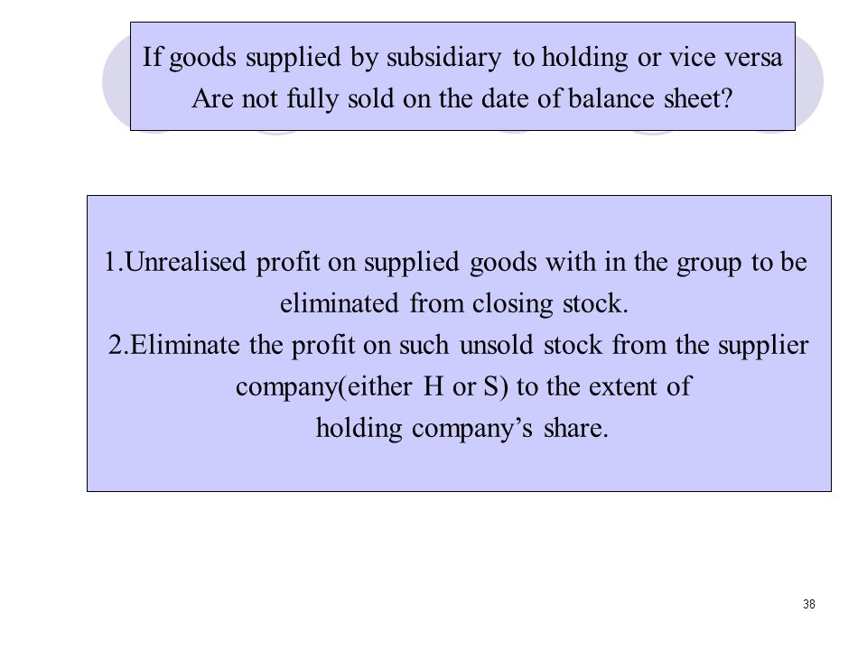 If goods supplied by subsidiary to holding or vice versa