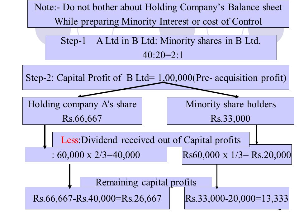 Note:- Do not bother about Holding Company's Balance sheet
