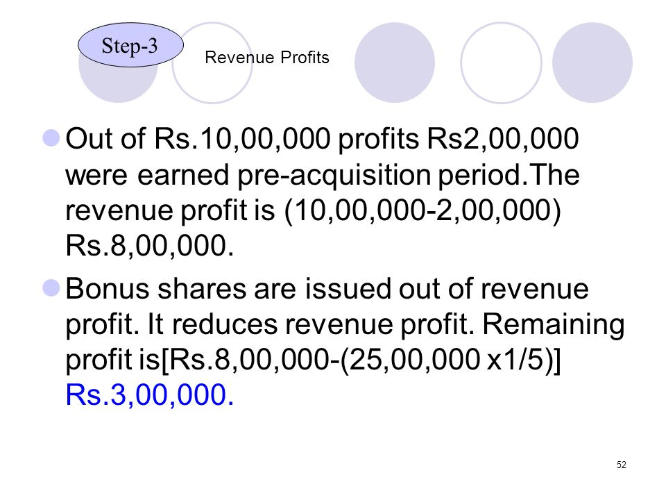 Step-3 Revenue Profits.