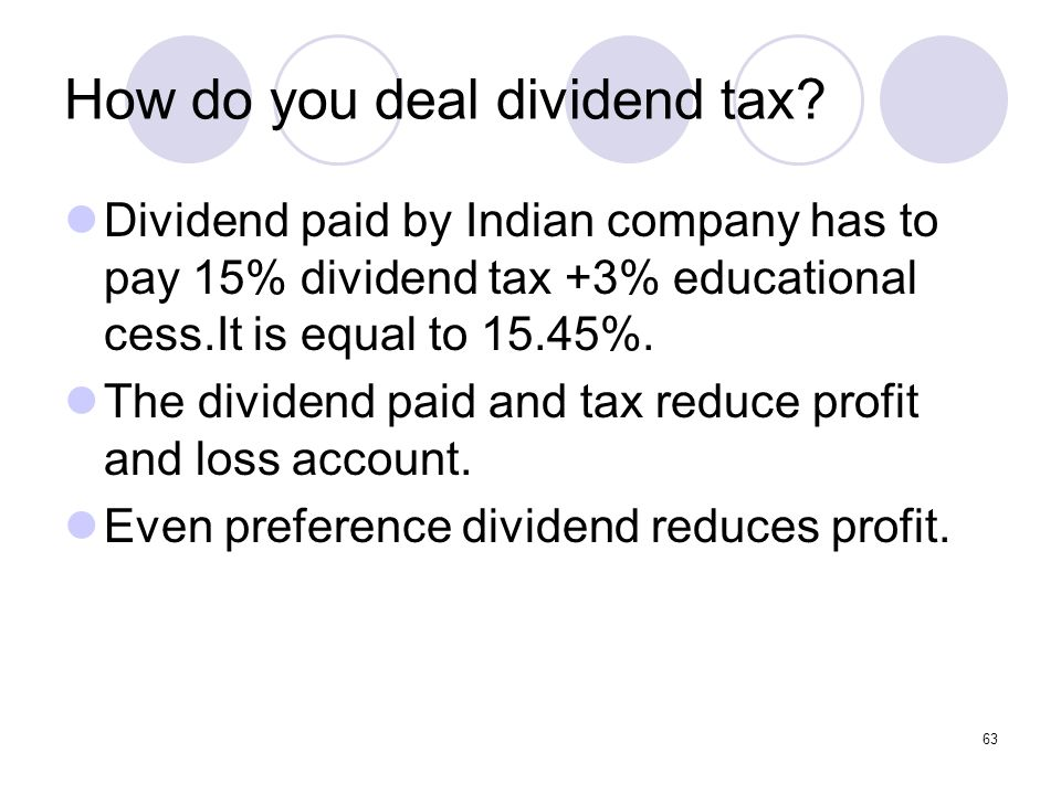 How do you deal dividend tax