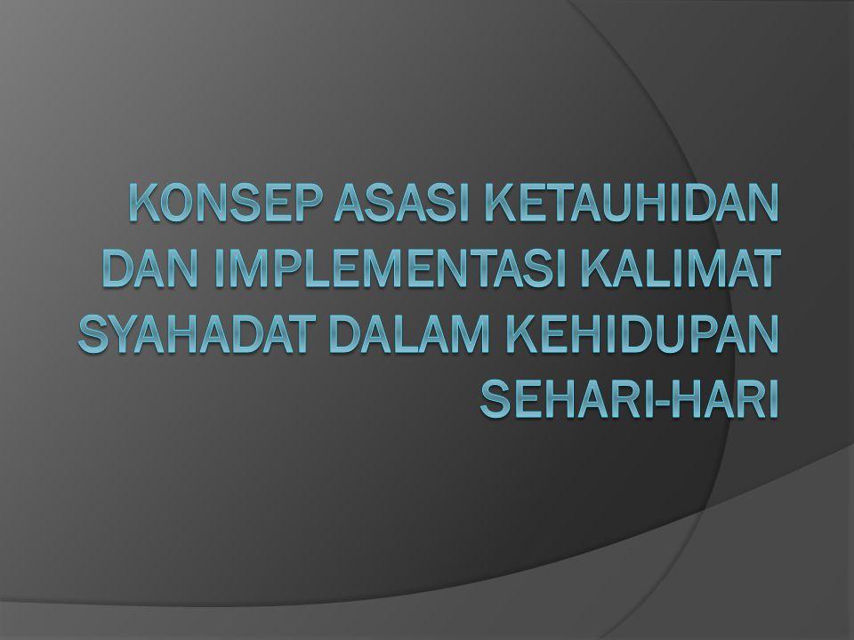 Konsep asasi ketauhidan dan implementasi kalimat syahadat dalam kehidupan sehari-hari
