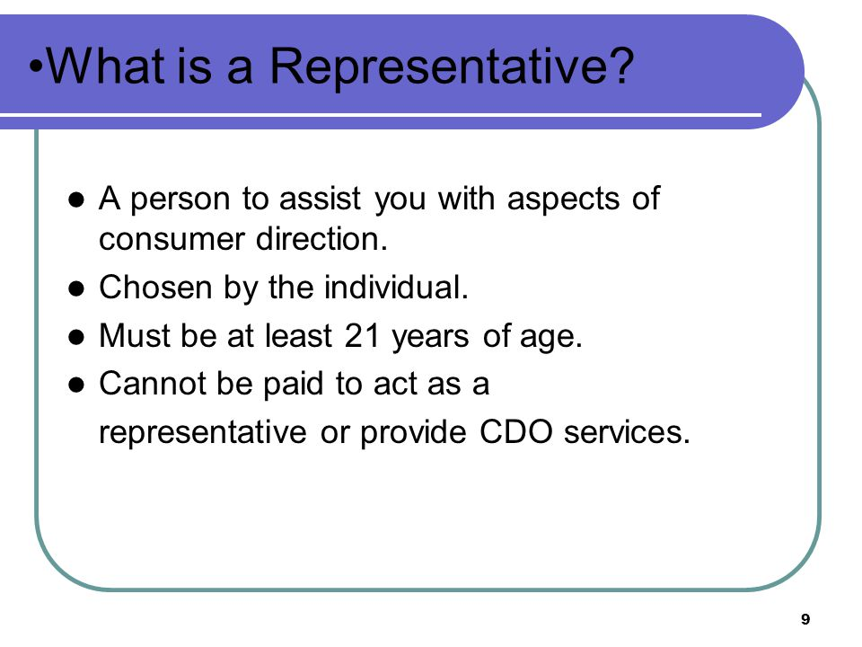 What is a Representative
