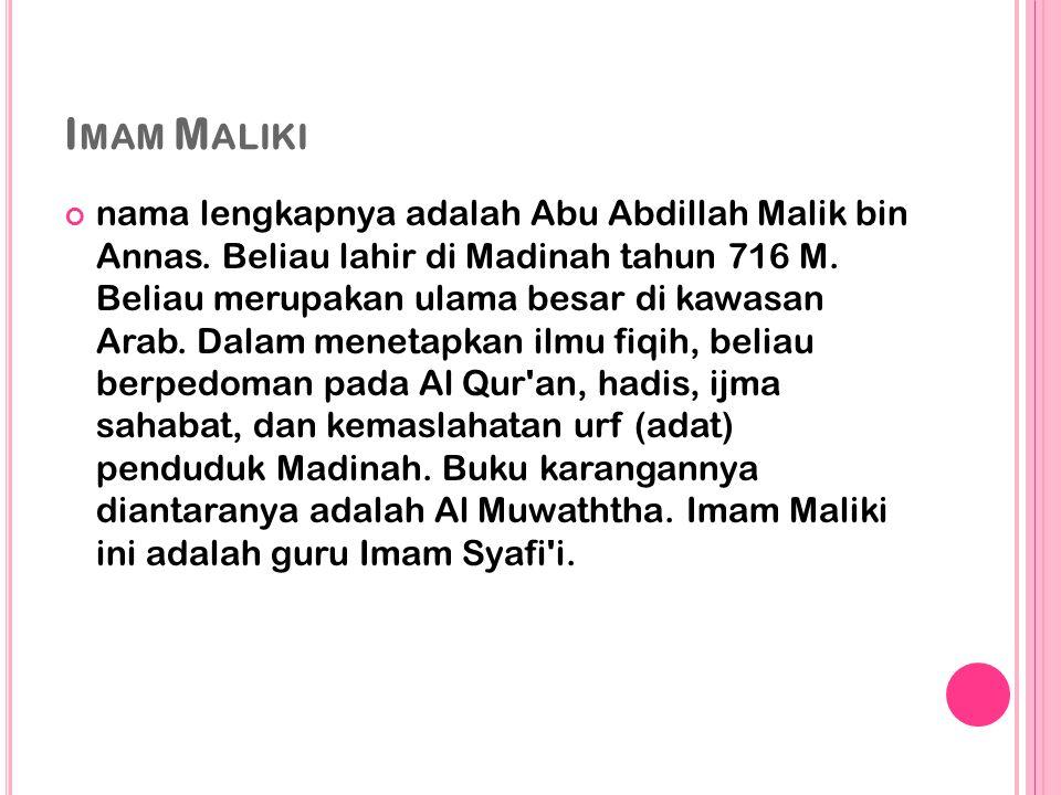 Imam Maliki