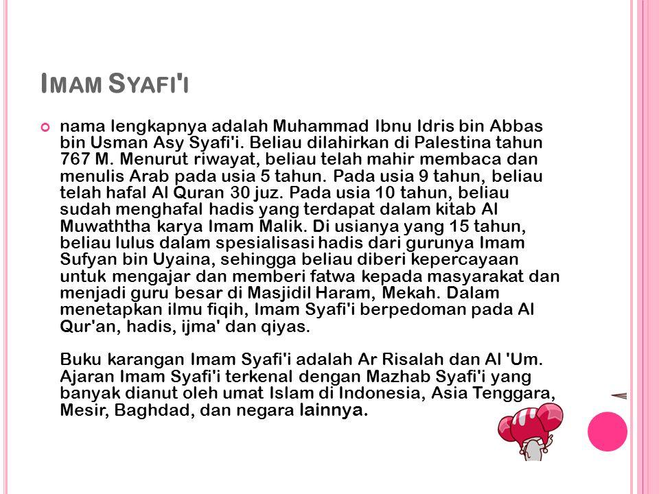 Imam Syafi i