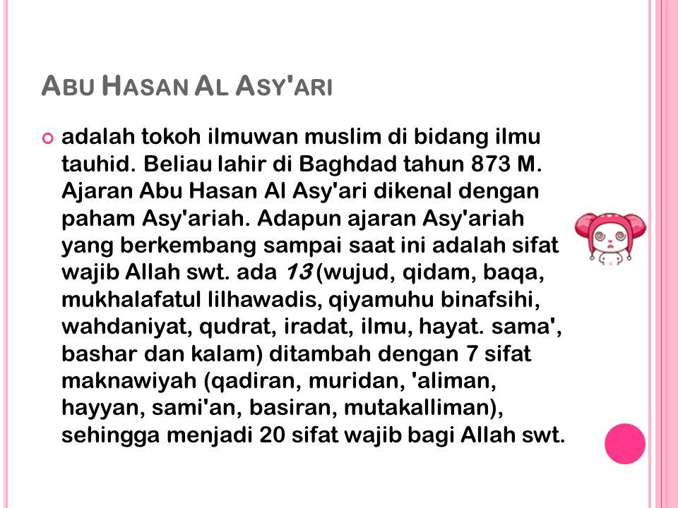 Abu Hasan Al Asy ari