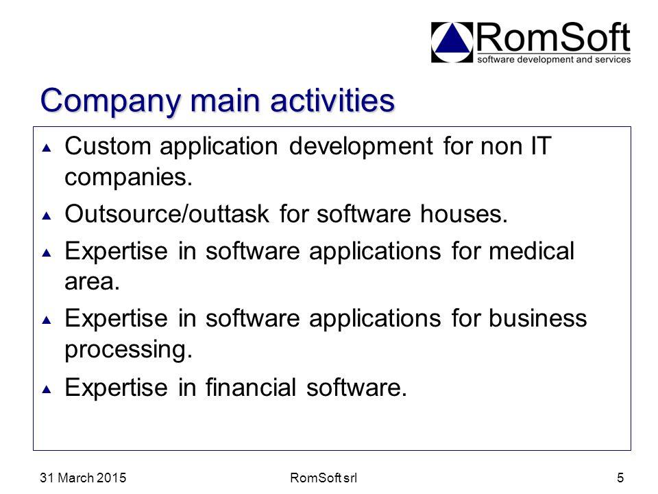 Company main activities