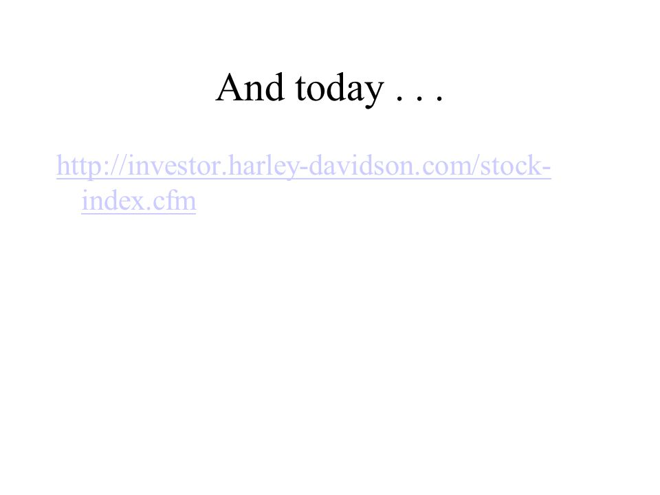 And today . . . http://investor.harley-davidson.com/stock-index.cfm