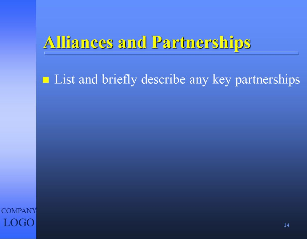 Alliances and Partnerships