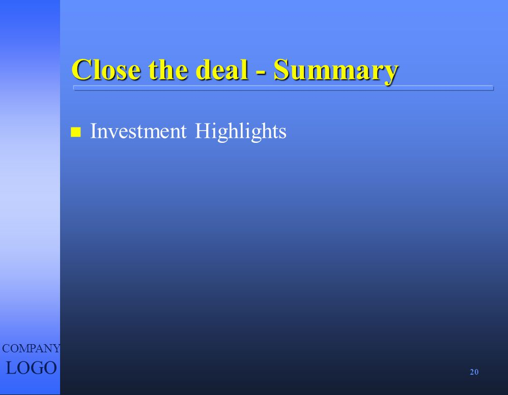 Close the deal - Summary