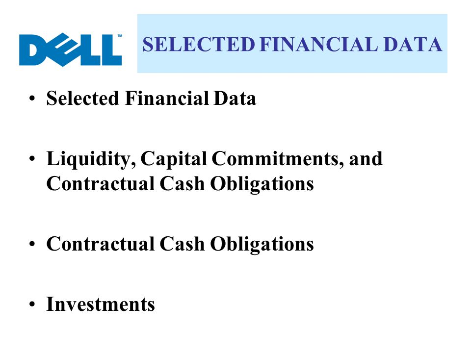 SELECTED FINANCIAL DATA