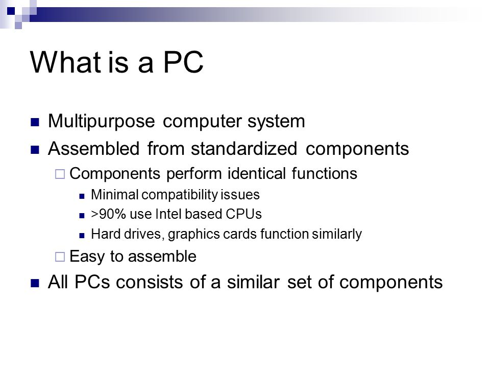 What is a PC Multipurpose computer system