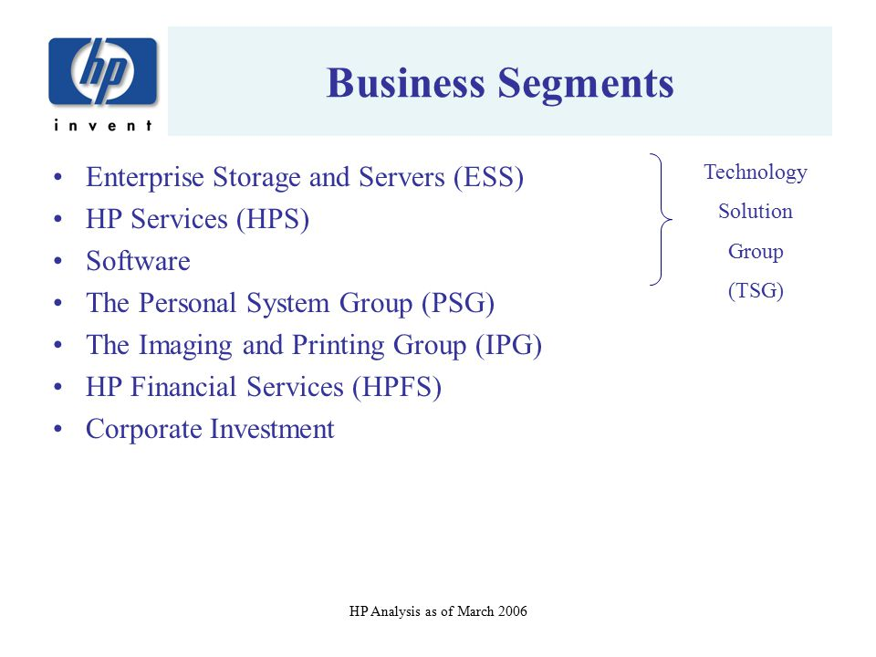 Business Segments Enterprise Storage and Servers (ESS)