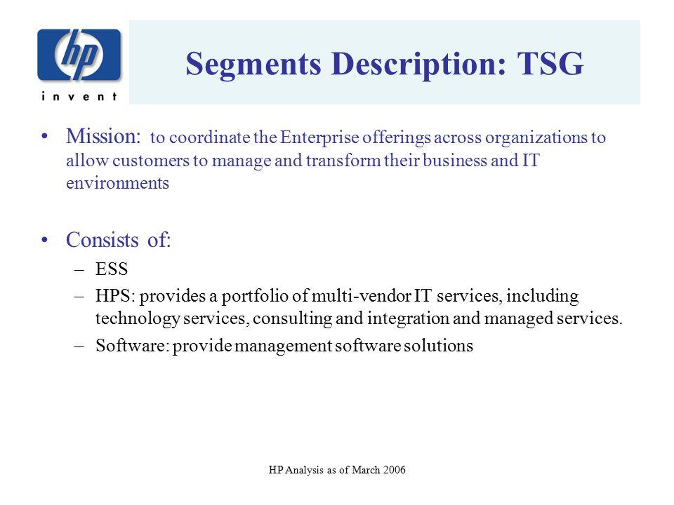 Segments Description: TSG
