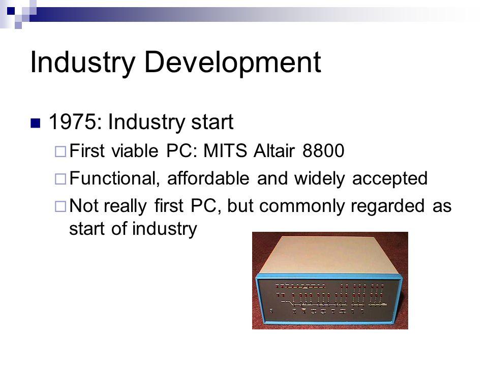 Industry Development 1975: Industry start