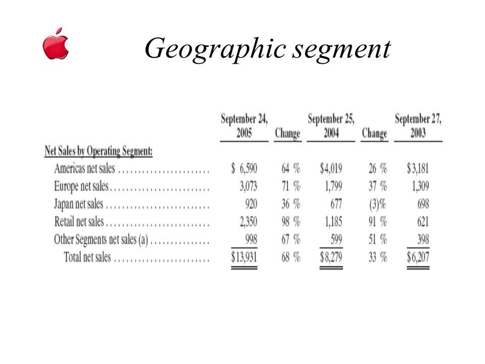 Geographic segment