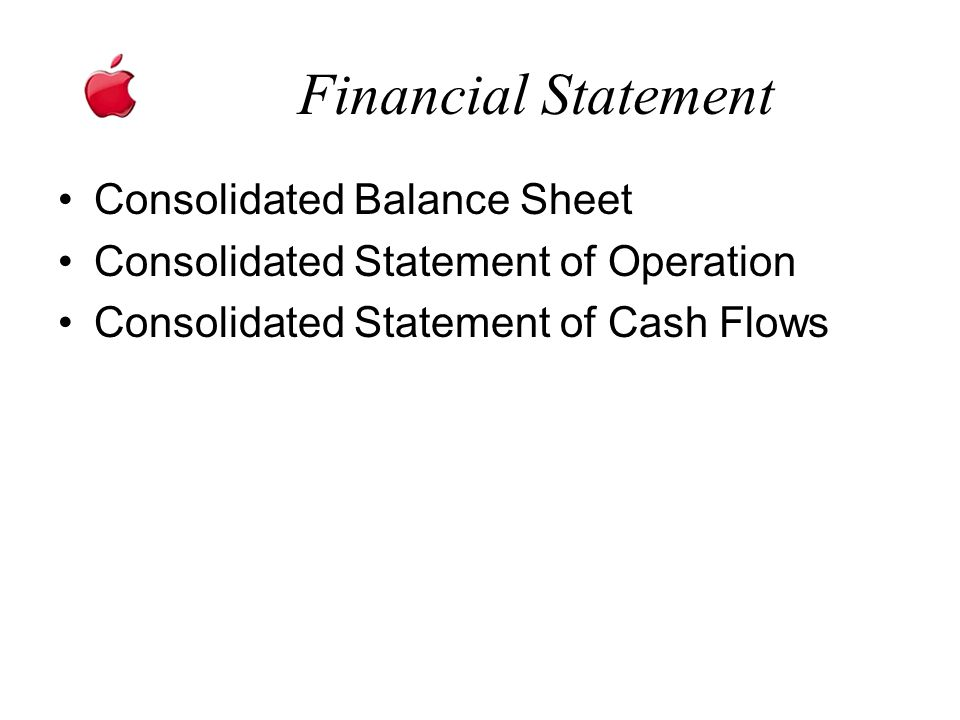 Financial Statement Consolidated Balance Sheet