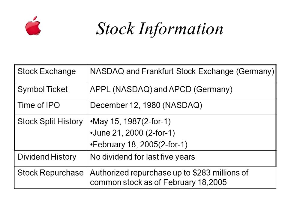 Stock Information Stock Exchange