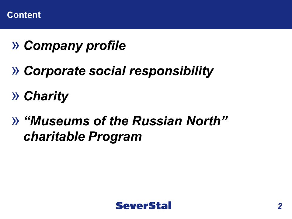Corporate social responsibility Charity