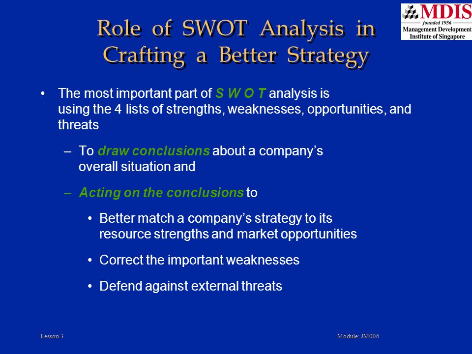 Role of SWOT Analysis in Crafting a Better Strategy