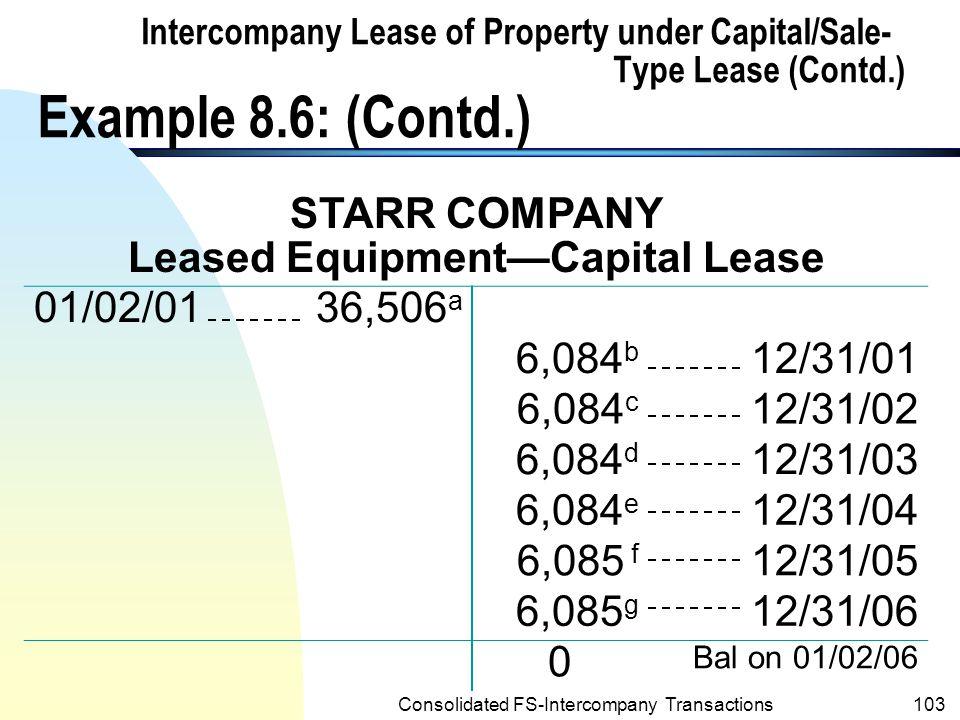 Leased Equipment—Capital Lease