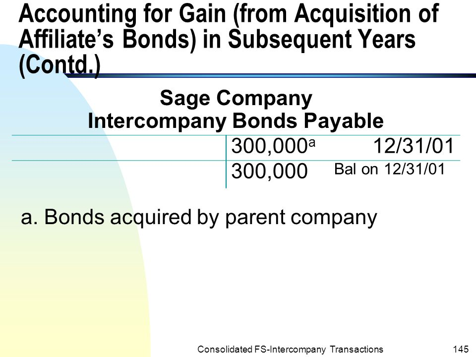 Intercompany Bonds Payable