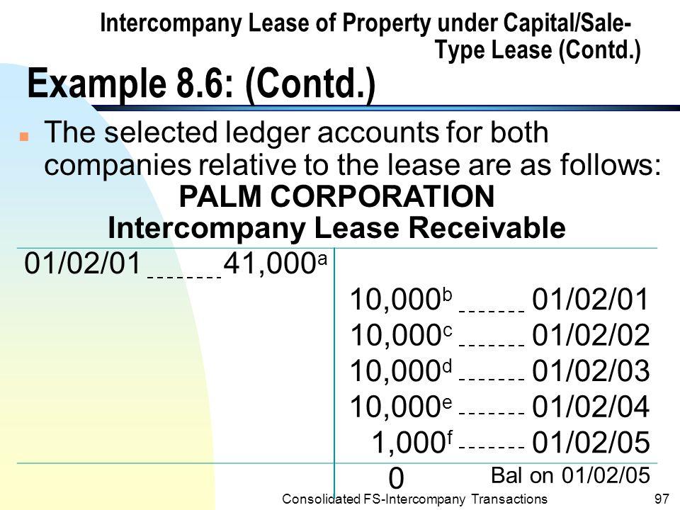 Intercompany Lease Receivable