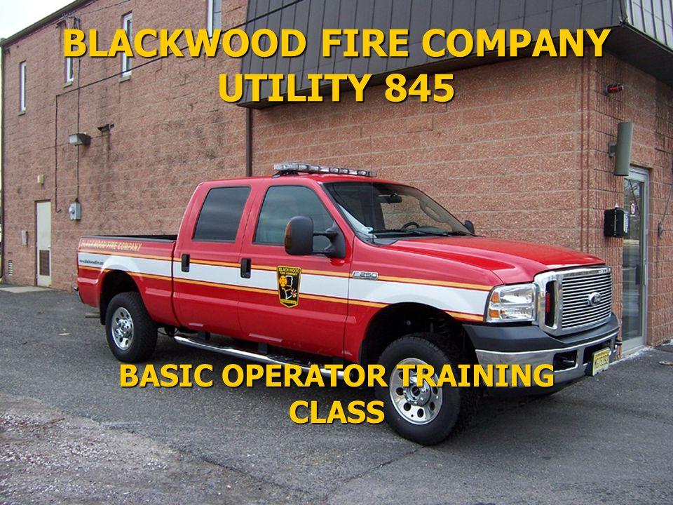 BLACKWOOD FIRE COMPANY UTILITY 845