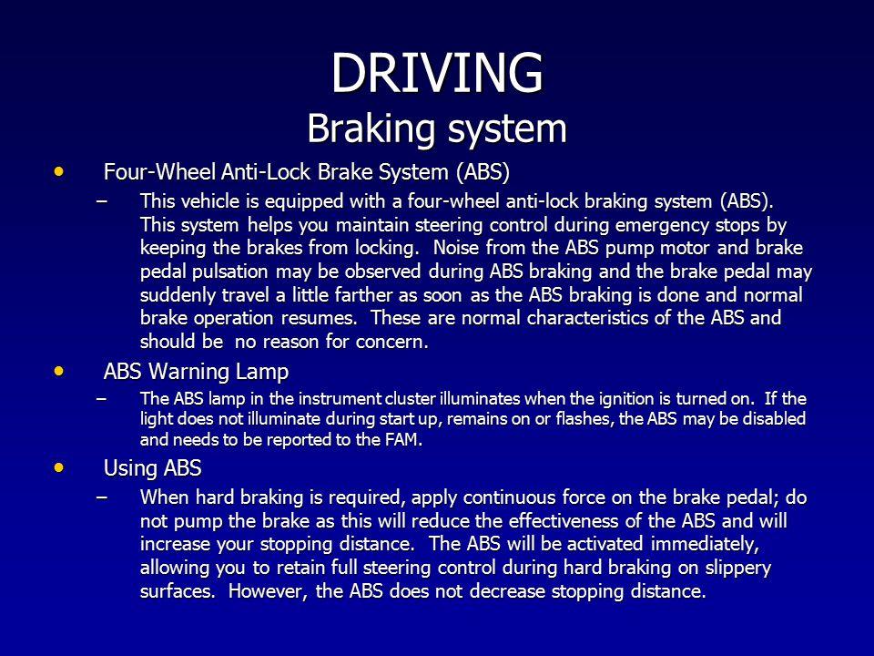 DRIVING Braking system