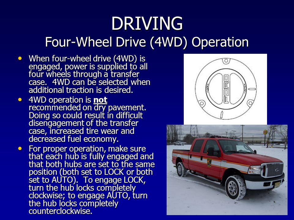 DRIVING Four-Wheel Drive (4WD) Operation