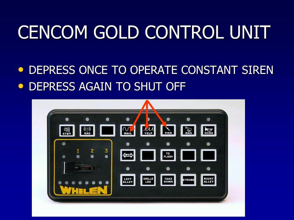 CENCOM GOLD CONTROL UNIT
