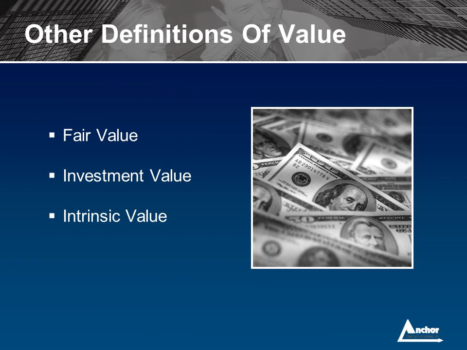 Other Definitions Of Value