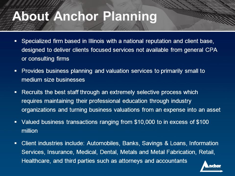 About Anchor Planning