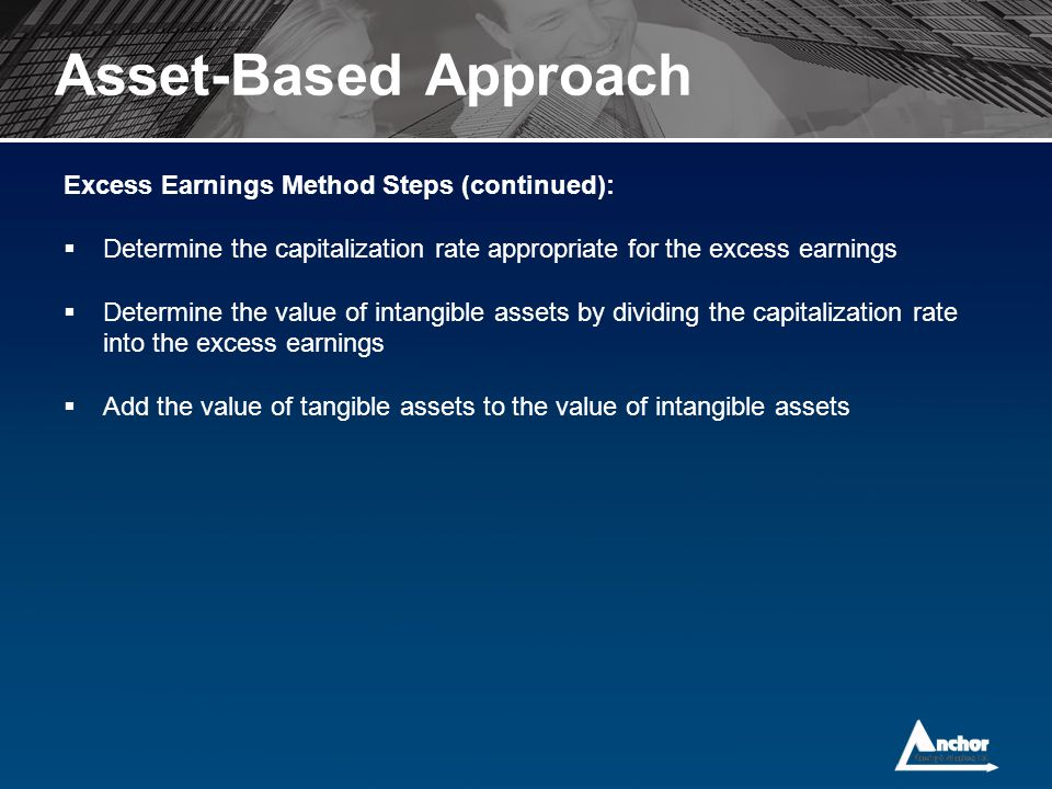 Asset-Based Approach Excess Earnings Method Steps (continued):