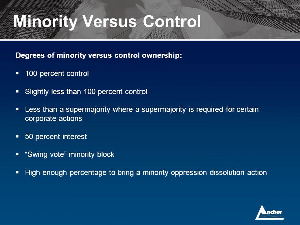 Minority Versus Control